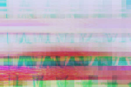 Glitch digital abstract artifacts distortion background futuristic,  media damage. Stock Photo