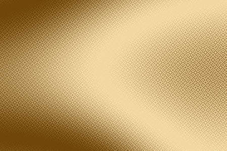 Imprint golden background and gold print on shiny foil,  pattern material.