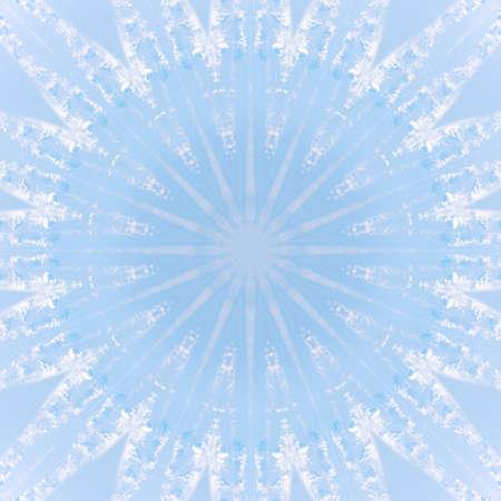 atmósfera de textura de patrón de caleidoscopio de cielo de nube azul. fondo con nubes. Foto de archivo