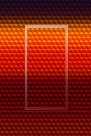 Orange gold geometric cube 3D pattern abstract background for cover design,  illusion seamless.