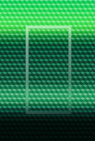 Green cube geometric pattern abstract background for cover design, illustration brochure. Foto de archivo
