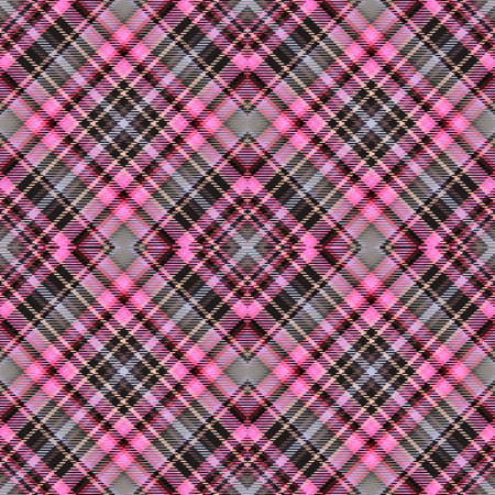 Background tartan, seamless abstract pattern with diagonal lines,  decoration texture. Stockfoto