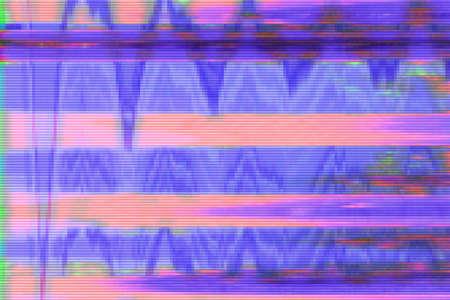Glitch vhs background artifact noise damage texture, screen screen glitch. Reklamní fotografie