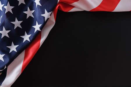Vlag amerikaanse vs ons patriot amerika achtergrond, gedenkteken.