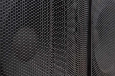 Salut haut-parleurs fin. Moniteur système de son hifi pour studio d'enregistrement sonore. Enceinte hi-fi professionnelle. Équipement audio pour home cinéma. Boîtes d'enceintes concert de musique audio. Système audio stéréo. Banque d'images