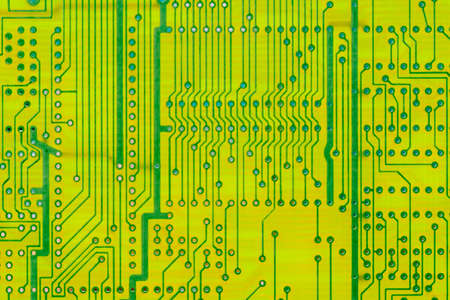 Empty circuit board, pcb printed computer technology,  background macro.