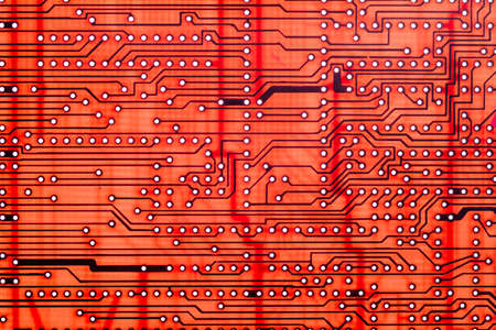 Empty printed circuit board or pcb computer technology,  background microprocessor.
