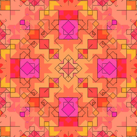 Mosaic abstract background pattern stained backdrop window, shape. Stock Photo