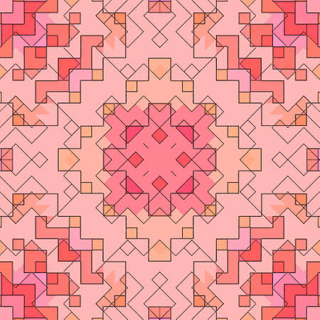 Mosaic abstract background pattern stained backdrop window, design geometric. Stock Photo