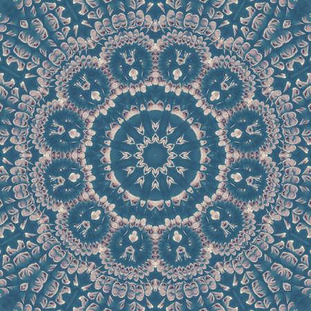 atmósfera de textura de patrón de caleidoscopio de cielo de nube azul. fondo. Foto de archivo
