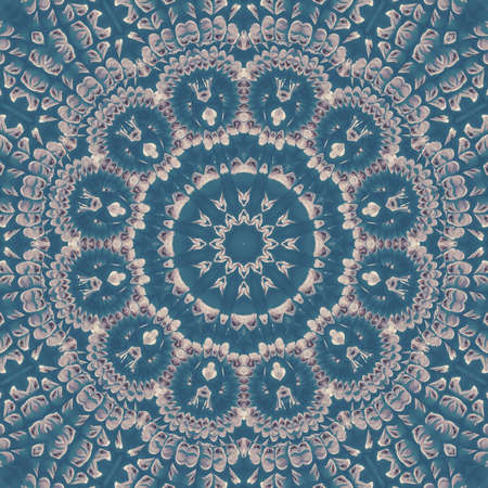 blue cloud sky kaleidoscope pattern texture atmosphere. backdrop. 免版税图像