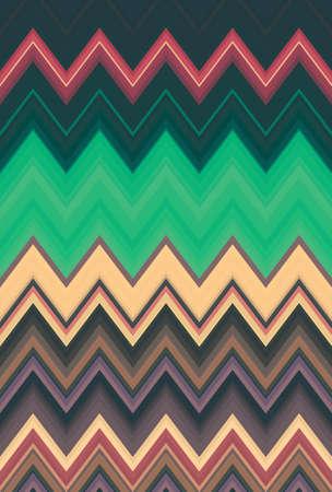vintage retro pattern chevron zigzag background old. texture. Stock Photo