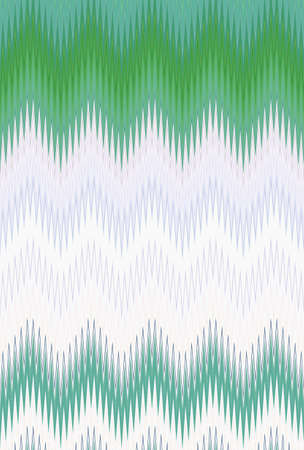 chevron green foliage grass summer spring zigzag. abstract trends. Stock Photo