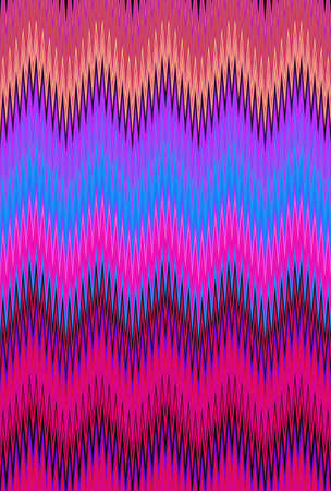 psychedelic hallucination hallucinogenic chevron zigzag pattern background. fabric.