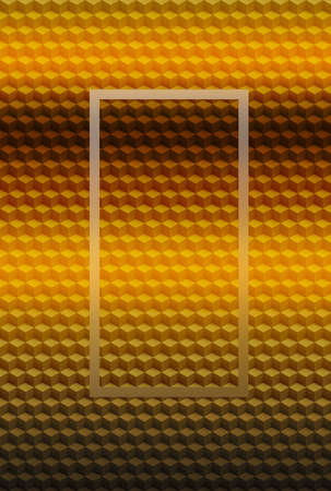 Orange gold geometric cube 3D pattern abstract background for cover design, texture.