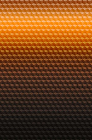 Orange gold geometric cube 3D pattern abstract background for cover design, illustration block.