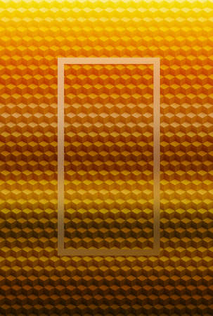 Orange gold geometric cube 3D pattern abstract background for cover design, graphic.