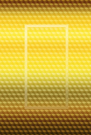 Orange gold geometric cube 3D pattern abstract background for cover design, mosaic texture.