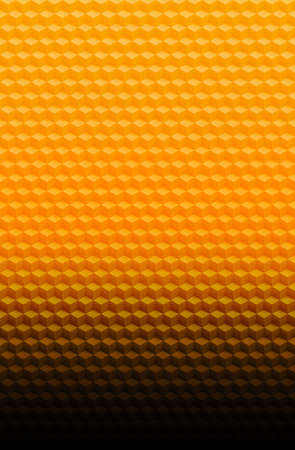Orange gold geometric cube 3D pattern abstract background for cover design, poster decoration.