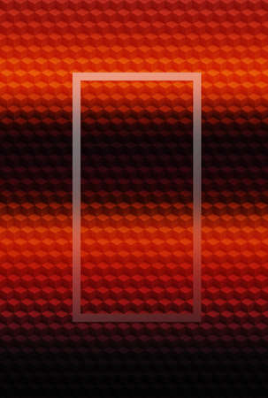 Cube red orange geometric 3D pattern abstract background for cover design, brochure. Banco de Imagens