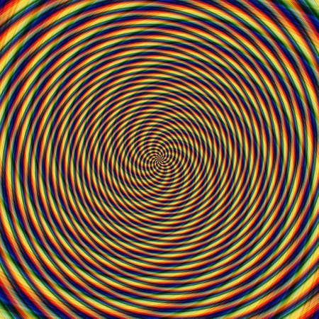 Abstract background illusion hypnotic illustration motion spirals, attractive.