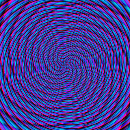 Abstract background illusion hypnotic illustration motion spirals, rotation.