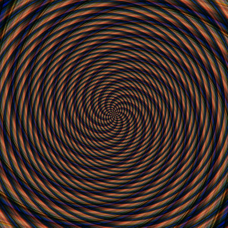 Abstract background illusion hypnotic illustration motion spirals, fancy. Stock Photo