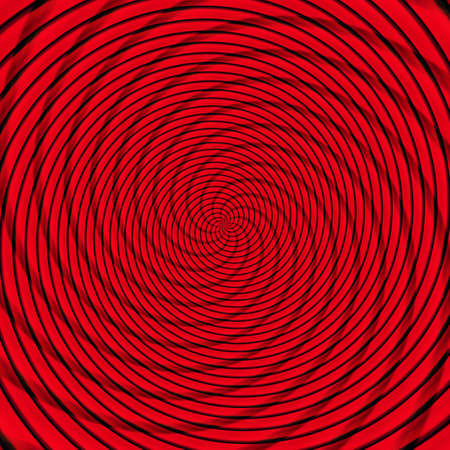 Abstract background illusion hypnotic illustration motion spirals, fractal delusion.