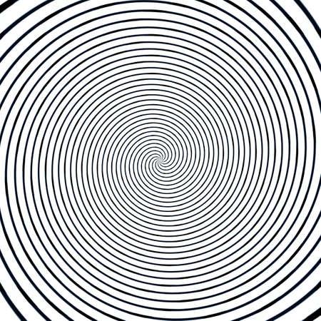 Abstract background illusion hypnotic illustration motion spirals, deception fancy. Stock Photo