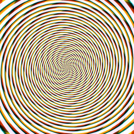 Abstract background illusion hypnotic illustration motion spirals, decoration fancy.