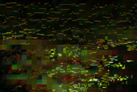 Glitch pixel digital pattern noise vintage background, vhs old. Stok Fotoğraf