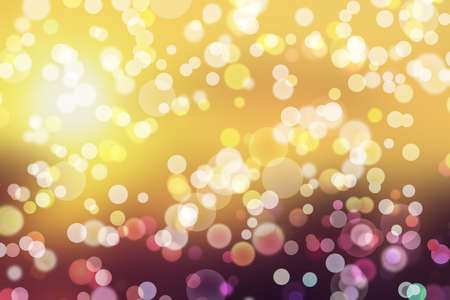 Background light bokeh abstract glitter glow bright, effect gold. 写真素材