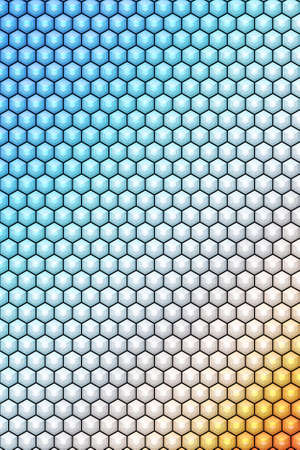 Hexagon or cube pattern cover geometric design background, square. Banco de Imagens
