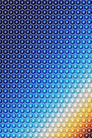 Hexagon or cube pattern cover geometric design background, block template. Banco de Imagens