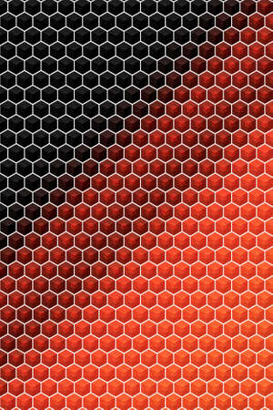 Hexagon or cube pattern cover geometric design background, brochure template. Banco de Imagens