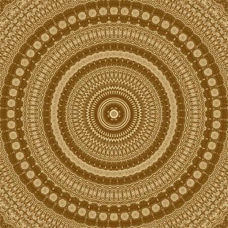 Gold symmetry pattern and geometric abstract golden design, decorative. Banque d'images
