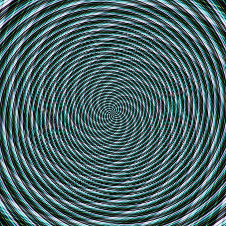 Abstract background illusion hypnotic illustration motion spirals, colorful.