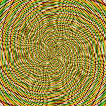 Abstract background illusion hypnotic illustration motion spirals, decoration.