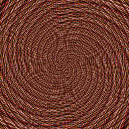 Abstract background illusion hypnotic illustration motion spirals, optical colorful.
