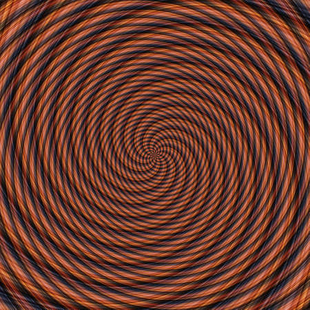 Abstract background illusion hypnotic illustration motion spirals, fractal optical.