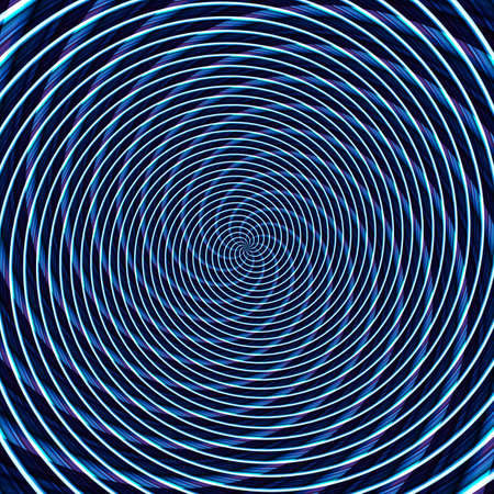 Abstract background illusion hypnotic illustration motion spirals, colorful decoration.
