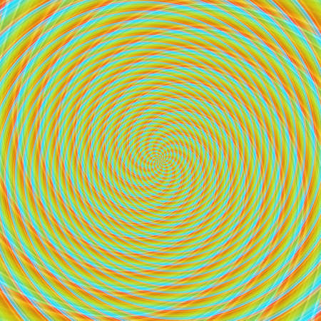 Abstract background illusion hypnotic illustration motion spirals, optical psychedelic.