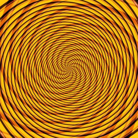 Abstract background illusion hypnotic illustration motion spirals, design attractive. Stock Photo