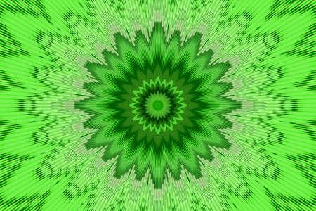 green flower spring pattern floral kaleidoscope background. illusion summer.
