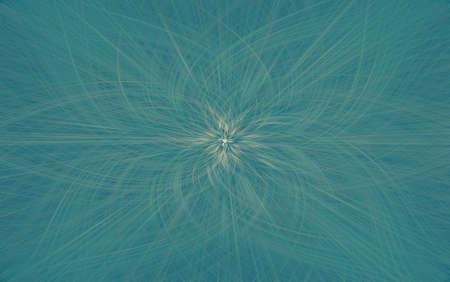 geometric turquoise pattern background fractal aquamarine kaleidoscope. ornament. Imagens