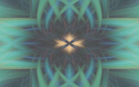 geometric turquoise pattern background fractal aquamarine kaleidoscope. abstract. Imagens