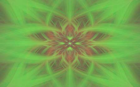art illustration green floral background pattern kaleidoscope. backdrop futuristic.