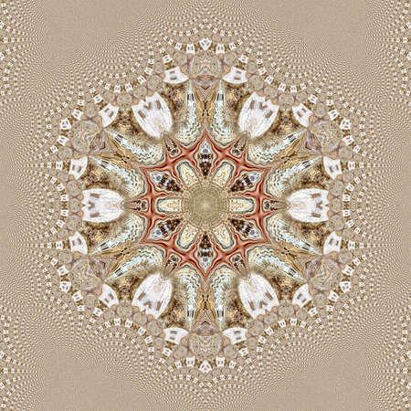 fractal pattern background abstract wallpaper design art. symmetry ornament. 写真素材