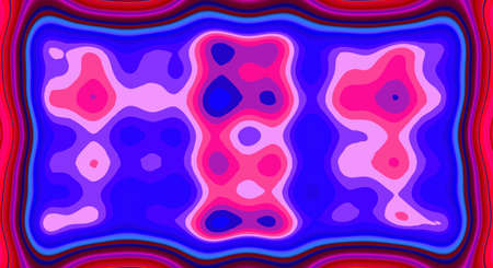 Psychedelic symmetry abstract pattern and hypnotic background texture, zine culture design.