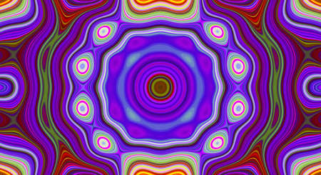Psychedelic symmetry abstract pattern and hypnotic background texture, backdrop swirl. Stok Fotoğraf
